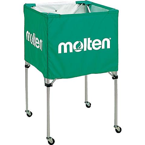 molten(モルテン) バスケ ボールカゴ(中・背高)(緑)[BK20HG] 【バスケットボール 用品】ボールカゴ ボールかご ボールケース