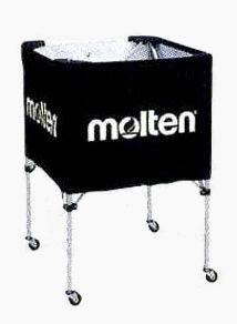 molten(モルテン) バスケ ミニバス用 ボールカゴ(ブラック)[BK20HLBK] 【バスケットボール 用品】ボールカゴ ボールかご ボールケース