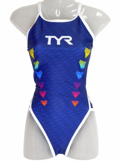 TYR(ティア) レディース 練習水着 ウィメンズフレックスバック(ネイビー)[FRBLG-18M(NV)] 【水泳 水着】 練習用水着女性用 スイムウェアトレーニング水着 フレックスバック