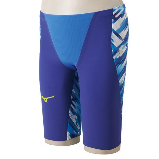 MIZUNO(ミズノ) FINA認可モデル メンズ 競泳水着 GX-SONICIII ST★スプリンターモデル ハーフスパッツ (ブルー)[N2MB6001-27]【水泳 水着】競泳用水着 男性用 スイムウェアスパッツ