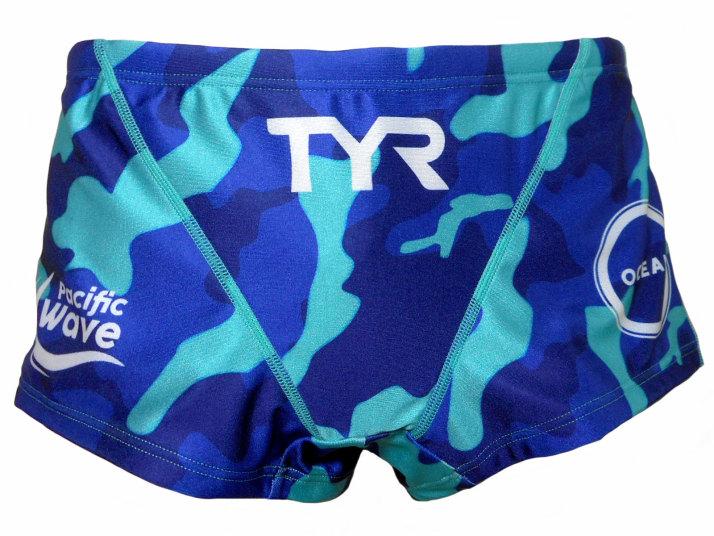 TYR(ティア) メンズ ショートボクサー(ブルー)[BLOGO-19S(BL)]【水泳 水着】 練習用水着男性用 スイムウェアショートボックス