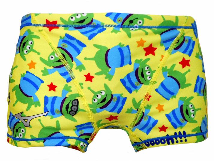 MIZUNO(ミズノ)ディズニー ショートスパッツ エクサースーツ(イエロー)[N2MB958045]【水泳 水着】 練習用水着 男性用 スイムウェアメンズ ショートボックス トイストーリー
