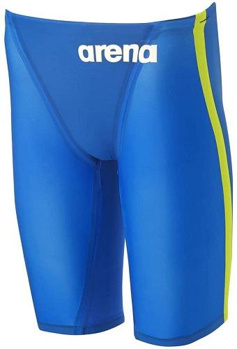 ARENA(アリーナ) FINA承認 メンズ 競泳水着 アクアフォースX CP コントロールポジション★ ハーフスパッツ(SBLU Sブルー×イエロー)[ARN-0001M-SBLU]【水泳 水着】 競泳用水着 男性用 スイムウェアハーフスーツ