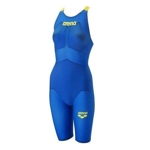 ARENA(アリーナ) FINA承認 レディース 競泳水着 アクアフォースX モーションフリー★ ハーフスパッツ(Sブルー×イエロー)[ARN-0002W-SBLU]【水泳 水着】 競泳用水着 女性用 スイムウェアハーフスーツ