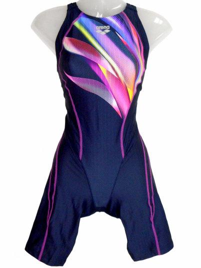 ARENA(アリーナ) レディース 競泳水着 セイフリーバックスパッツ 着やストラップ (ピンク×ネイビー)★Sサイズ[ARN-8062W(NVPK)] 【水泳 水着】 競泳用水着 女性用ハーフスーツ レッグスーツ