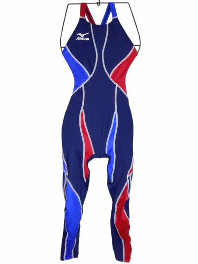 MIZUNO(ミズノ) レディース ロングレッグスーツ(ネイビー)★Sサイズ[N2JG4Y1072]【水泳 水着】 練習用水着女性用 スイムウェアロングスパッツ レッグスーツ
