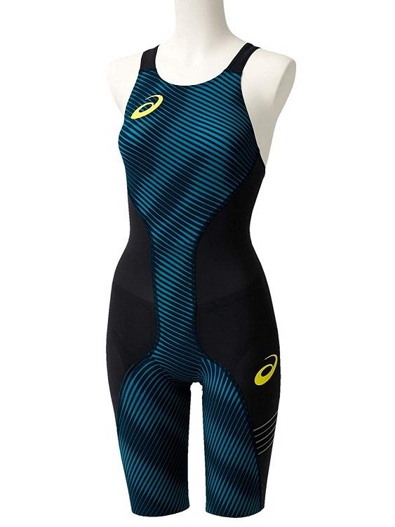asics(アシックス) FINA認可モデル レディース 競泳水着 トップインパクトライン 布帛ソーイング縫製モデル ハーフスパッツ (ブルースティール)[2162A060-401]【水泳 水着】競泳用水着 女性用 スイムウェアハーフスーツ