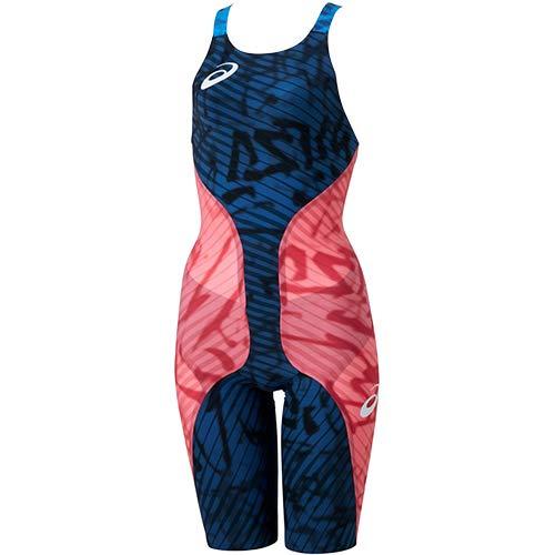 asics(アシックス) FINA認可モデル レディース 競泳水着 トップインパクトライン トップモデル ハーフスパッツ (ネイビー×アシックスコーラル)[2162A035-700]【水泳 水着】競泳用水着 女性用 スイムウェアハーフスーツ