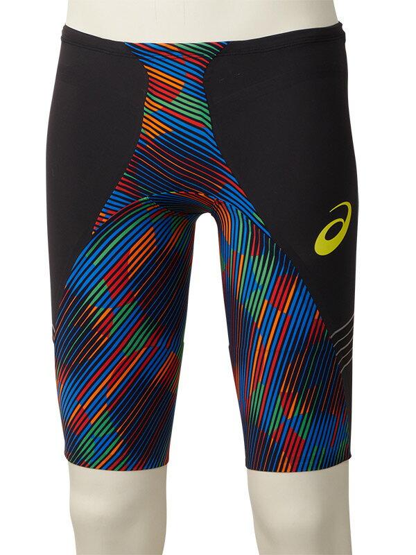 asics(アシックス)FINA認可モデル メンズ 競泳水着 トップインパクトライン RAiOglide2 スパッツ (マルチ)[2161A043-001]【水泳 水着】競泳用水着 男性用 スイムウェアハーフスパッツ