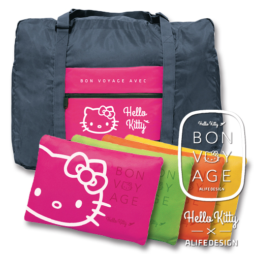056fe006d111 BONZ shop  Travel bag Hello Kitty HELLO KITTY BV FOLDING BAG 32L ALIFE alif  BON VOYAGE trip accessory Kitty collaboration Hello Kitty folding bag bag  BAG ...
