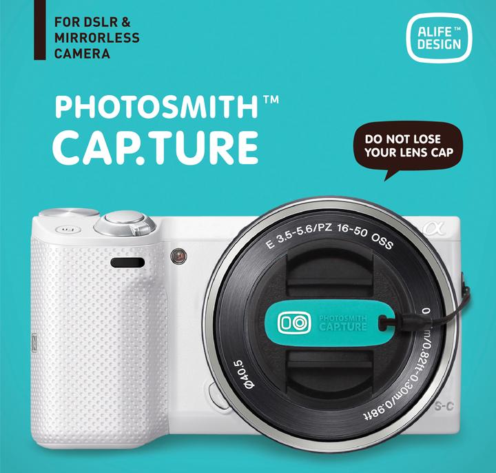 렌즈 캡 SNCF-112 Alife PHOTOSMITH CAP.TURE 렌즈 캡 카메라 소품 카메라 용품 멋쟁이 렌즈 커버캡