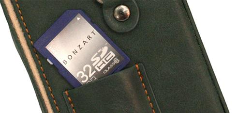 像レザーケースボンザート单透镜反射式照相机附带绿色快照情况棕色/专用BONZART AMPEL的吊带