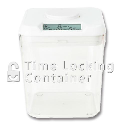 ホワイトクリア収納ボックス キッチンセーフタイムロッキングコンテナminiサイズ Kitchen Safe