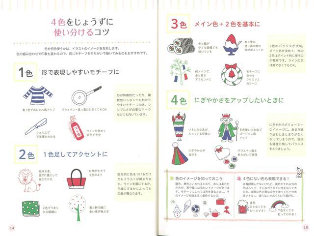 楽天ブックス バーゲン本 4色ボールペンでかんたん かわいいイラストを描く くわざわ ゆうこ 本