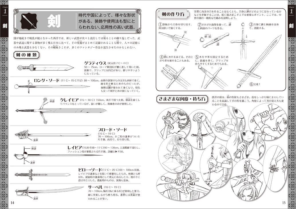 楽天ブックス 闘う西洋ファンタジー武器イラストポーズ集 両角