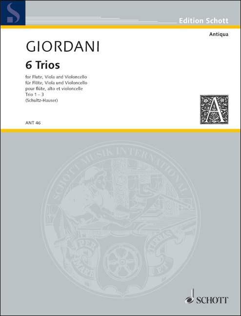楽天ブックス: 【輸入楽譜】ジョルダーニ, Tommaso: フルート三重奏曲 ...