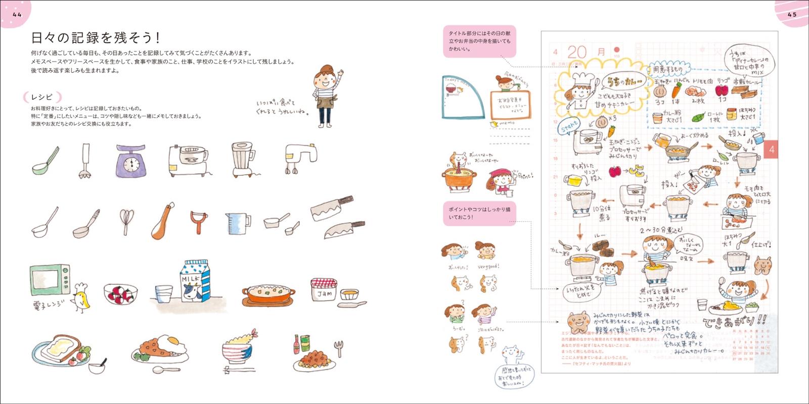 楽天ブックス かわいい手帳の描き方レッスン 手描きイラストと