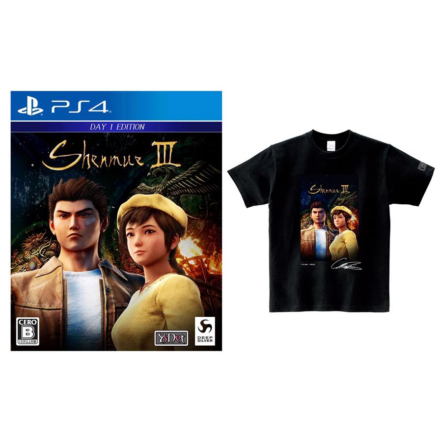 PS4 シェンムーIII リテールDay1エディション オフィシャルTシャツセット〈 Lサイズ〉