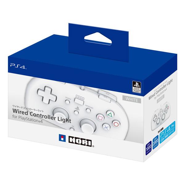 ワイヤードコントローラーライト for PS4 ホワイト