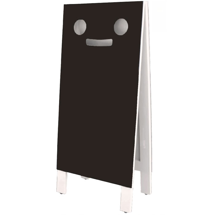 (6010-2002)ミスターブラッキー マーカー用(L)ホワイト 入数:1台 ショップ黒板 店の看板 カフェ 黒板 POP メニューボード