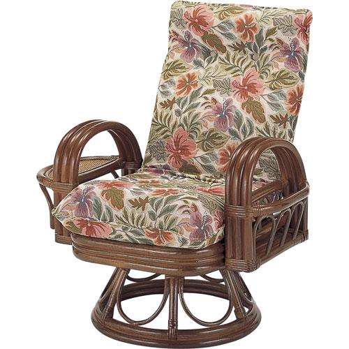 送料無料 籐リクライニング回転座椅子 ハイ s753 籐家具 籐 ラタン家具 ラタン 椅子 イス いす チェアー チェア 籐の椅子 籐回転椅子 回転 回転式椅子 回転いす 回転イス リクライニングチェア リクライニング リラックスチェア 肘掛け椅子 リビングチェア 一人掛け椅子