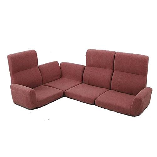 完成品 ソファセット リクライニング コーナーソファ 4点セット 幅180cm 布張 レッド ソファ ソファー 三人掛けソファ 三人掛けソファー 3人掛けソファ 三人掛け 3人掛け 3人用 3P 椅子 イス いす チェア チェアー ソファチェア リビング インテリア sofa lss-11rd