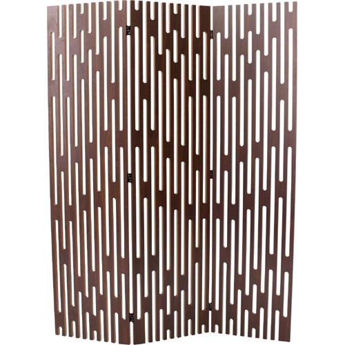 完成品 衝立 3連 木製 洋風 オシャレ ヴェレ ウォールナット 間仕切り パーテーション つい立て ついたて パーティション 目隠し ウッドブラインド ブラインド 木製ブラインド 160cm 北欧 おしゃれ 間仕切り家具 間仕切りパーテーション 洋室 和室 リビング tss-651wal