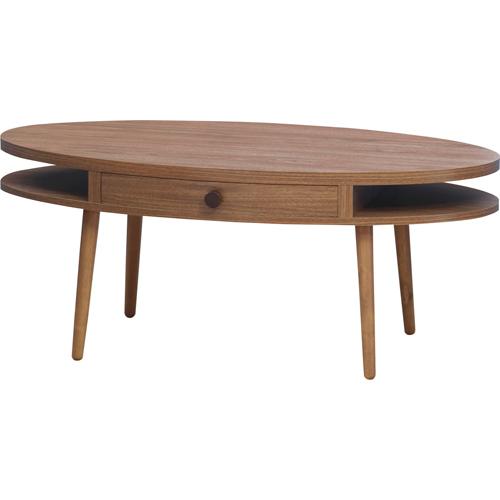 木製リビングテーブル コーヒーテーブル センターテーブル リビングテーブル ローテーブル 楕円 アルム 幅96cm 引出し付き オーバル 木製コーヒーテーブル 木製センターテーブル テーブル 机 つくえ 楕円形 引き出し付き 収納付き おしゃれ 木製ローテーブル alm-12wal