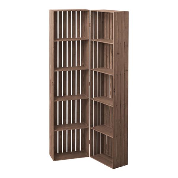 折りたたみボックスシェルフ 幅80cm高さ159cm シェルフ 棚 ラック 木製 木製ラック ウッドラック オープンシェルフ ウッドシェルフ 整理棚 フリーラック 本棚 多目的ラック ブックシェルフ 一人暮らし インテリア 収納棚 キッチン 雑貨 リビング
