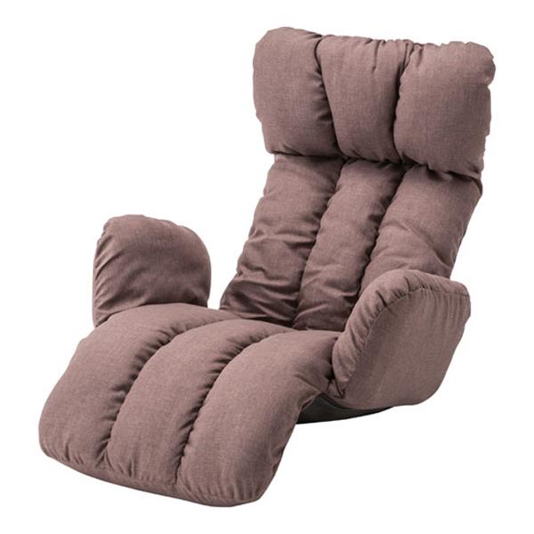 リクライニング座椅子 うたた寝チェア ブラウン