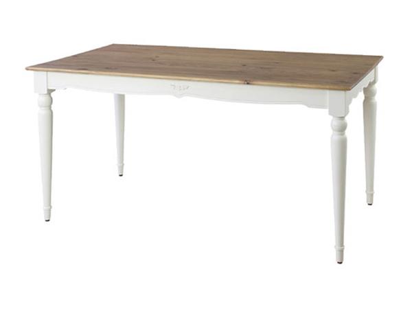 姫家具風カントリー調ダイニングテーブル ビッキー 幅150cm