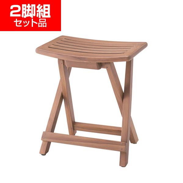 折りたたみ木製スツール【2脚組】