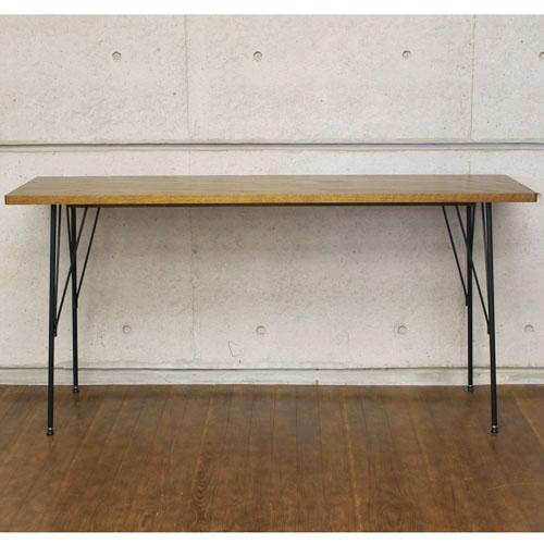 送料無料 カフェダイニングテーブル ブルーノ 幅150cm ブラウン at-1540