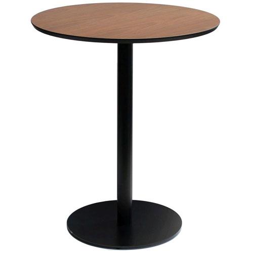 送料無料 丸型カフェテーブル バルディ 幅60cm ブラウン bat-607
