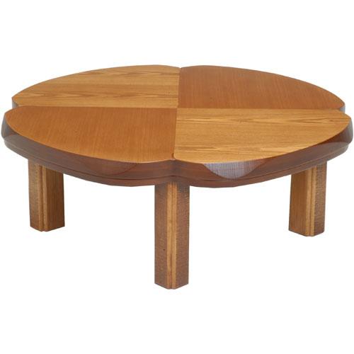 日本製 天然木こたつ クローバー型天板 幅100cm ナチュラル こたつ コタツ こたつテーブル こたつ本体 炬燵 木製 ko16-21