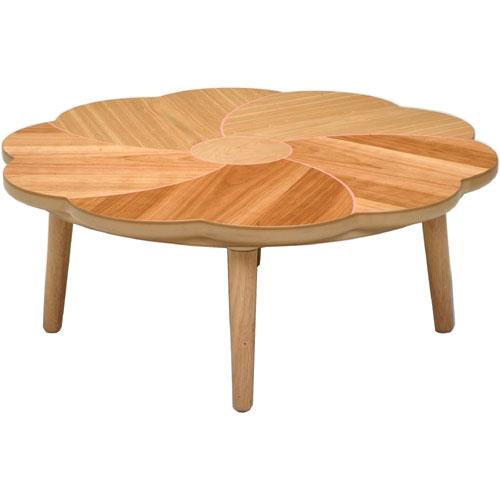 日本製 天然木こたつ 桜花 花型天板 幅100cm こたつ コタツ こたつテーブル こたつ本体 炬燵 木製 ko16-24