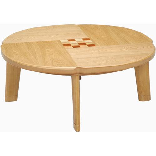 日本製 天然木こたつ フローラル 円形 幅100cm こたつ コタツ こたつテーブル こたつ本体 炬燵 木製 ko16-26