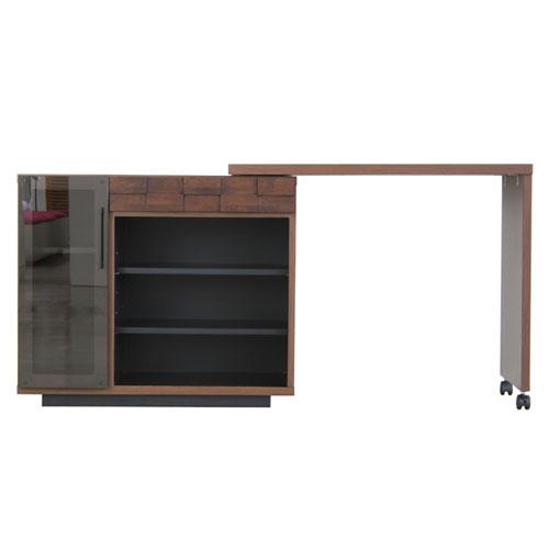 送料無料 幅伸縮デスク&収納棚 コルク 幅89~151cm ga-ck-kit-desk