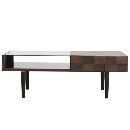 送料無料 ガラスリビングテーブル コルク 幅110cm ga-ck-table-110