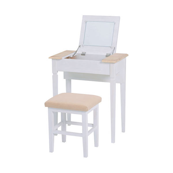 コンパクトドレッサー&スツールセット ナチュラルホワイト, 家電ショップV-sonic:b7134e7c --- officewill.xsrv.jp