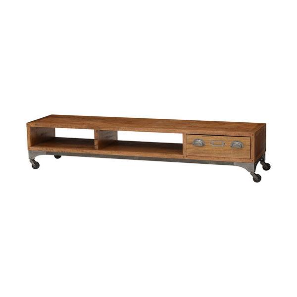 アイアン×天然木テレビ台 リベルタ キャスター付 幅150cm