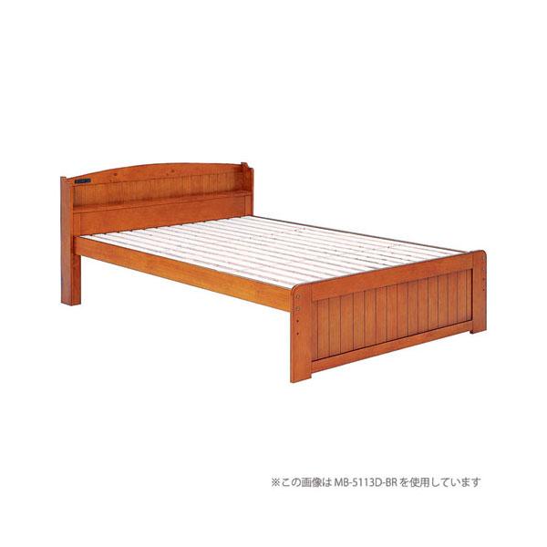 高さ3段階調整カントリー調すのこベッド【フレームのみ】シングル ブラウン