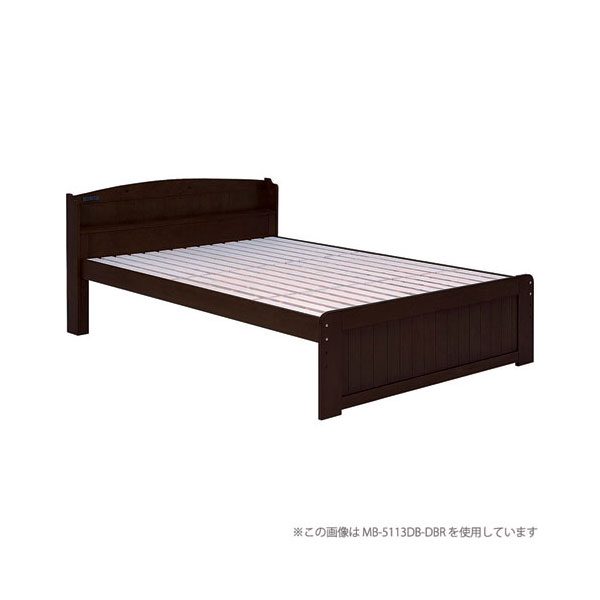 高さ3段階調整カントリー調すのこベッド【フレームのみ】シングル ダークブラウン