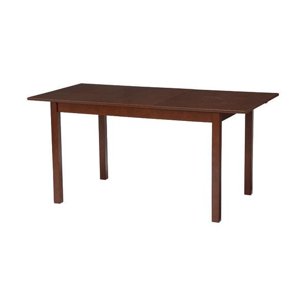 伸長式エクステンションダイニングテーブル 幅120/150 ダークブラウン