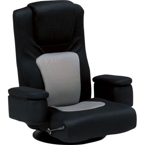 送料無料 リクライニング回転座椅子 LZ-082BK ブラック LZ-082BK★ hg-lz-082bk