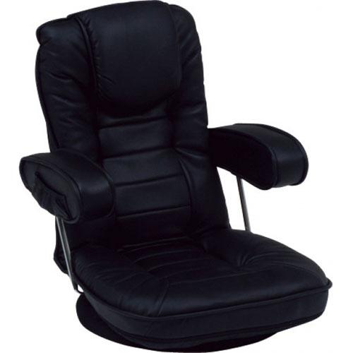 送料無料 リクライニング回転座椅子 LZ-1081BK ブラック LZ-1081BK★ hg-lz-1081bk