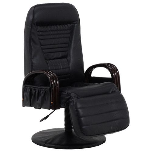 送料無料 回転リクライニング高座椅子 ブラック LZ-4129BK★ hg-lz-4129bk