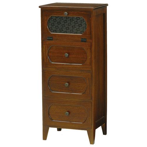 送料無料 木製チェスト 幅42cm高さ100cm ブラウン MCH-5184BR★ hg-mch-5184br