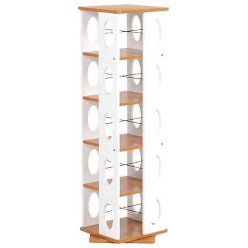 送料無料 幅34cm高さ120cm 回転式タワー本棚 MUD-7180★ 幅34cm高さ120cm 送料無料 ブラウン×ホワイト MUD-7180★ hg-mud-7180, ハコネマチ:b321ba6e --- pecta.tj