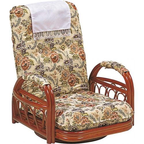 送料無料 籐リクライニング回転座椅子 ロータイプ RZ-921★ hg-rz-921